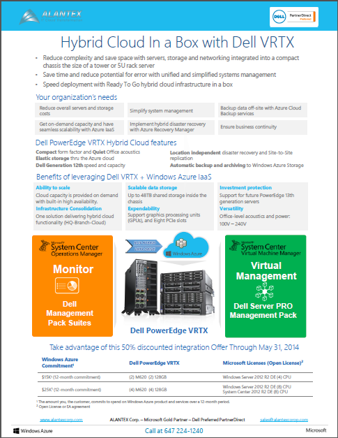 Dell VRTX Hybrid Cloud Offer